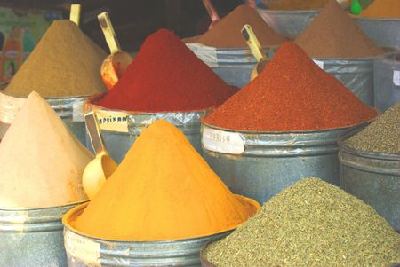 safran: Various kinds of spices