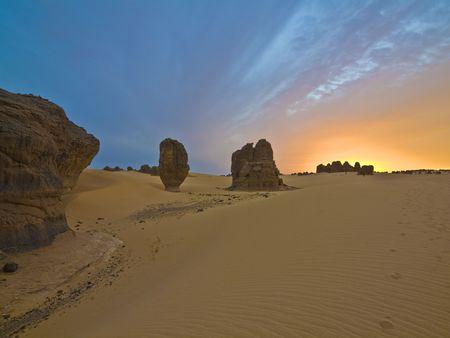 Algierski: algierskich pustyni Zdjęcie Seryjne