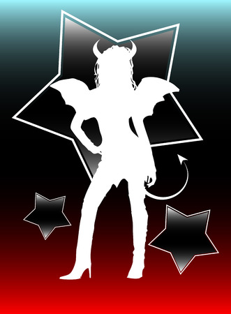 Sexy female representing the devil himself