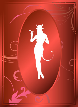 satan: Sexy female representing the devil himself