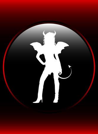 Sexy female representing the devil himself Vector