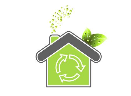 Fresh green house icon vector illustration Stock Vector - 3748375