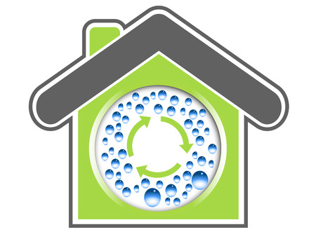 Fresh green vector house illustration Vector