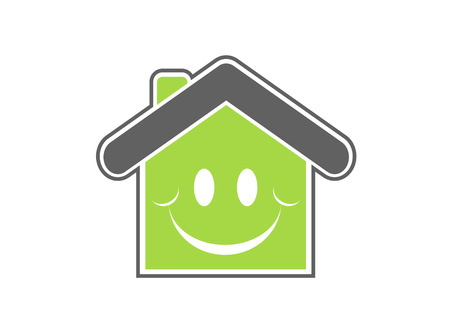 Vertes fraîches maison illustration vectorielle