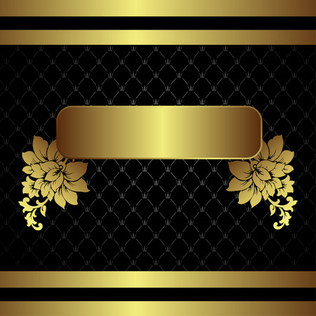Classic golden royal backround with floral elements