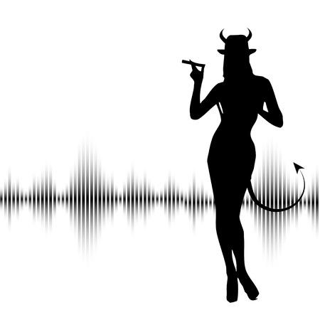 diablo y angel: Diablo Vectores