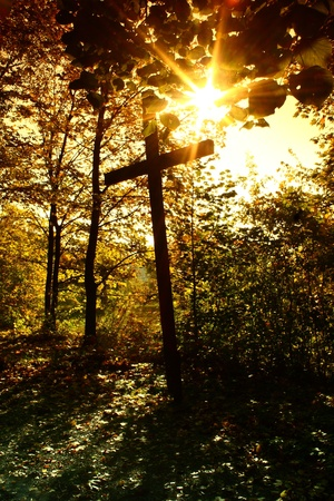 crucifix with sun Stock Photo - 11806166