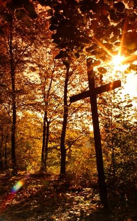 Crucifix with sun 2 photo