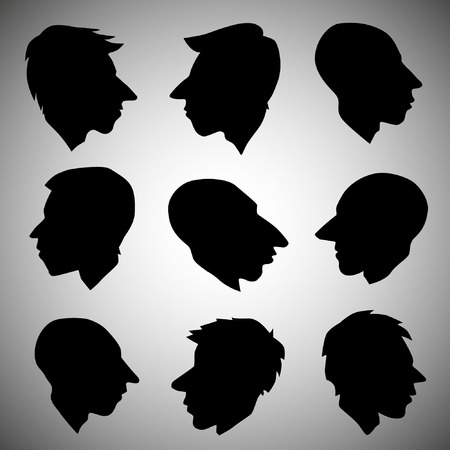 Men heads Vector