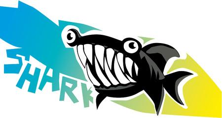 dangerous: Dangerous Cartoon Shark Illustration
