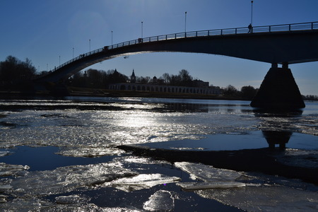 footbridges: spring Stock Photo