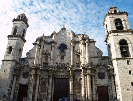 Church in Cathedral square. Havana. Cuba Stock Photo