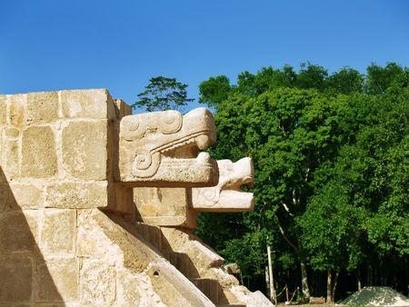 Two dragons in Chichenica. Yucatan. Mexico Stock Photo - 7281056