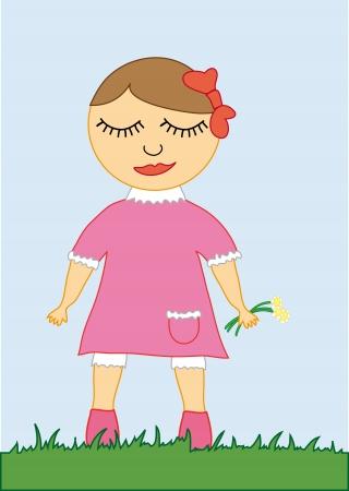 Girl children's illustrations Stock Vector - 17178270
