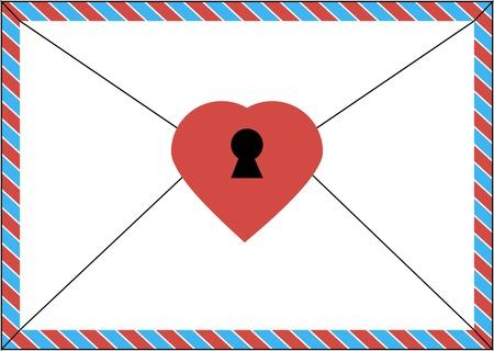 envelope for love letters Illustration