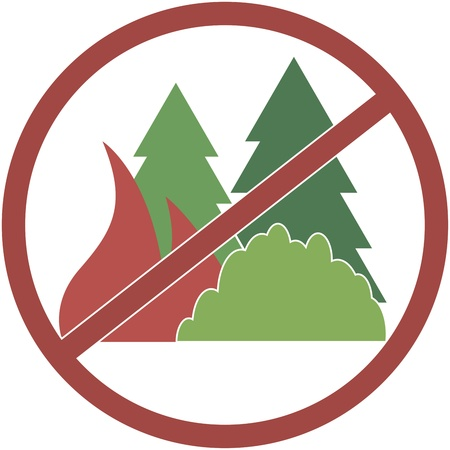 copse: sign red and round, not fuel the fires in the forest