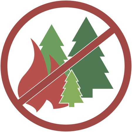 sign red and round, not fuel the fires in the forest