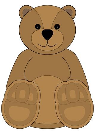 Childrens illustration of a cute teddy bear