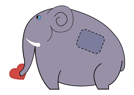 drawing elephant which is the heart