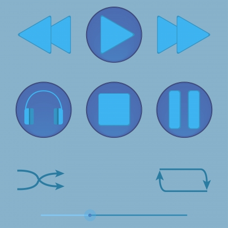 vector buttons for the player