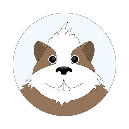 childrens cartoon illustration of cheerful hamster