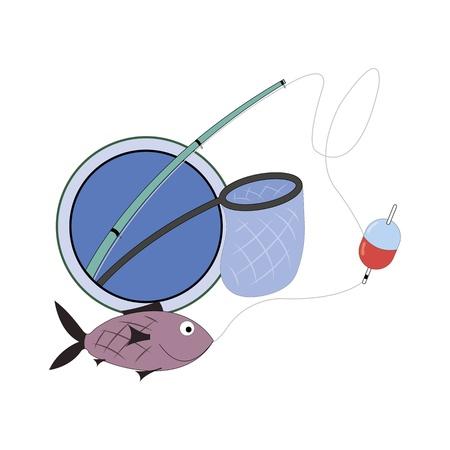 cartoon sign for fishing club