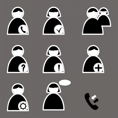 set of icons for web and telephone