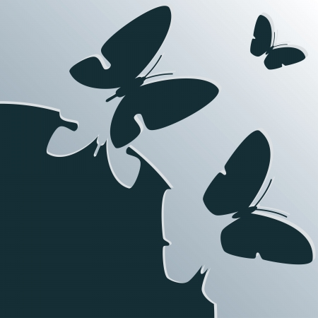 beautiful background with butterflies Stock Photo - 20694898