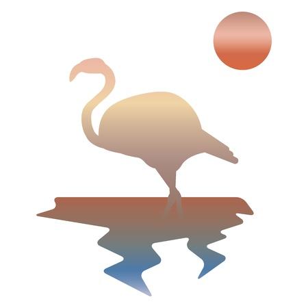 multicolor illustration of flamingos Stock Photo