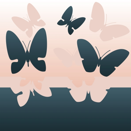 background with flying butterflies Stock Photo - 20793968