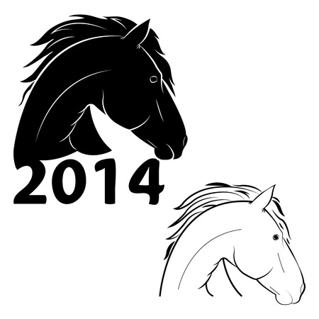 vector illustration of a horse symbol of the new year Vector
