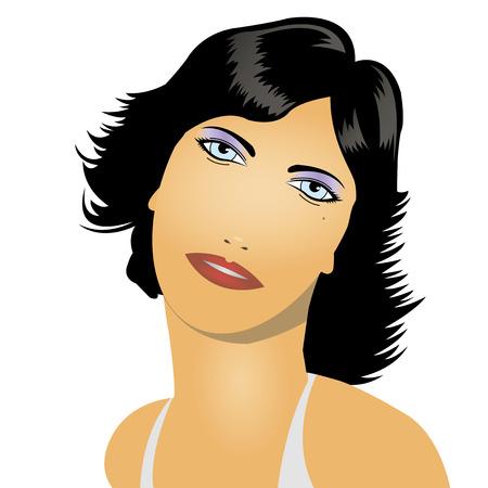 ragazza giovane bella: illustrazione vettoriale di una bella ragazza