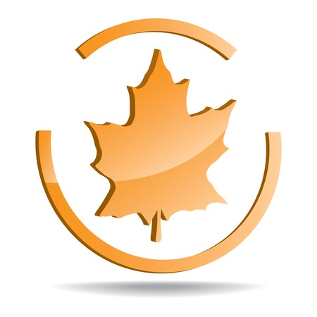 vector logo with a picture of a maple leaf