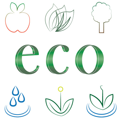 small set of environmental icons Illustration