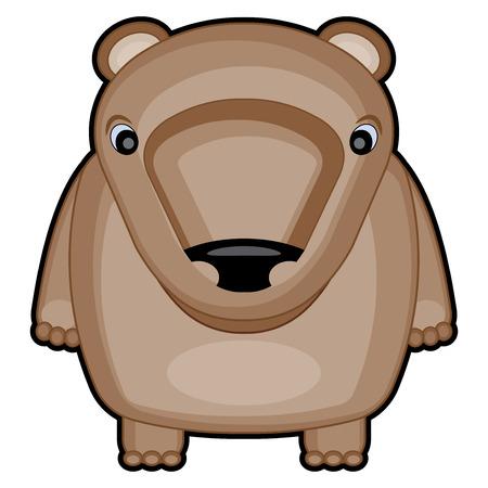 baby bear: cartoon illustration of cute baby bear