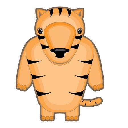 baby tiger: cartoon illustrazione di una tigre bambino Vettoriali