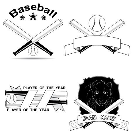 shortcuts: set of black and white baseball shortcuts