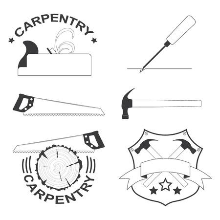 herramientas de carpinteria: conjunto de herramientas de carpinter�a iconos