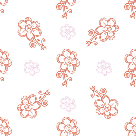 Seamless pattern. white flowers graphics.