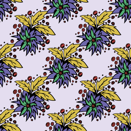 Seamless  pattern.white flowers graphics.