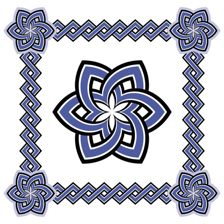 celtic: Celtic patterns set. Abstract geometric patterns wicker Illustration