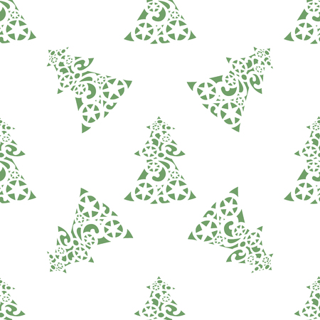Vector seamless pattern of beautiful Christmas trees Illustration