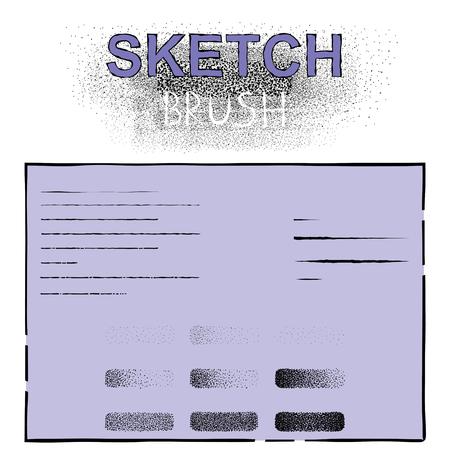 simulate: set of vector dot brushes simulate shading