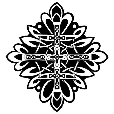 celtic: beautiful pattern with a cross in the Celtic style