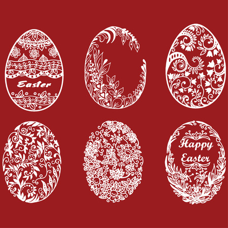 Set of vector easter eggs