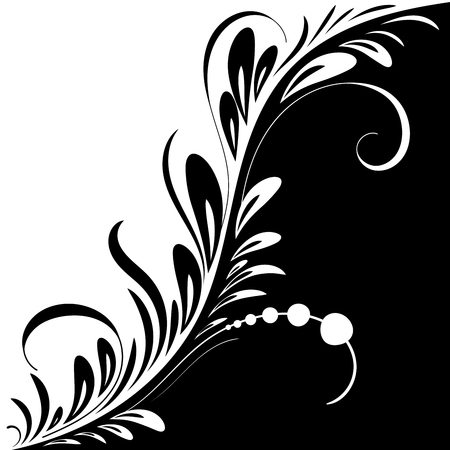 beautiful vintage pattern with swirls