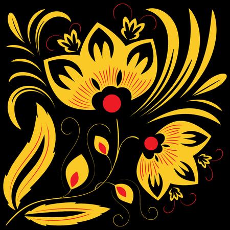 Vintage beautiful pattern with swirls