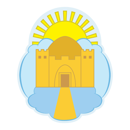 Logo depicting a heavenly temple.
