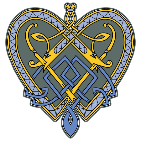 Logo in the Celtic style. 矢量图像