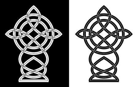 Ornamental cross in the Celtic style.